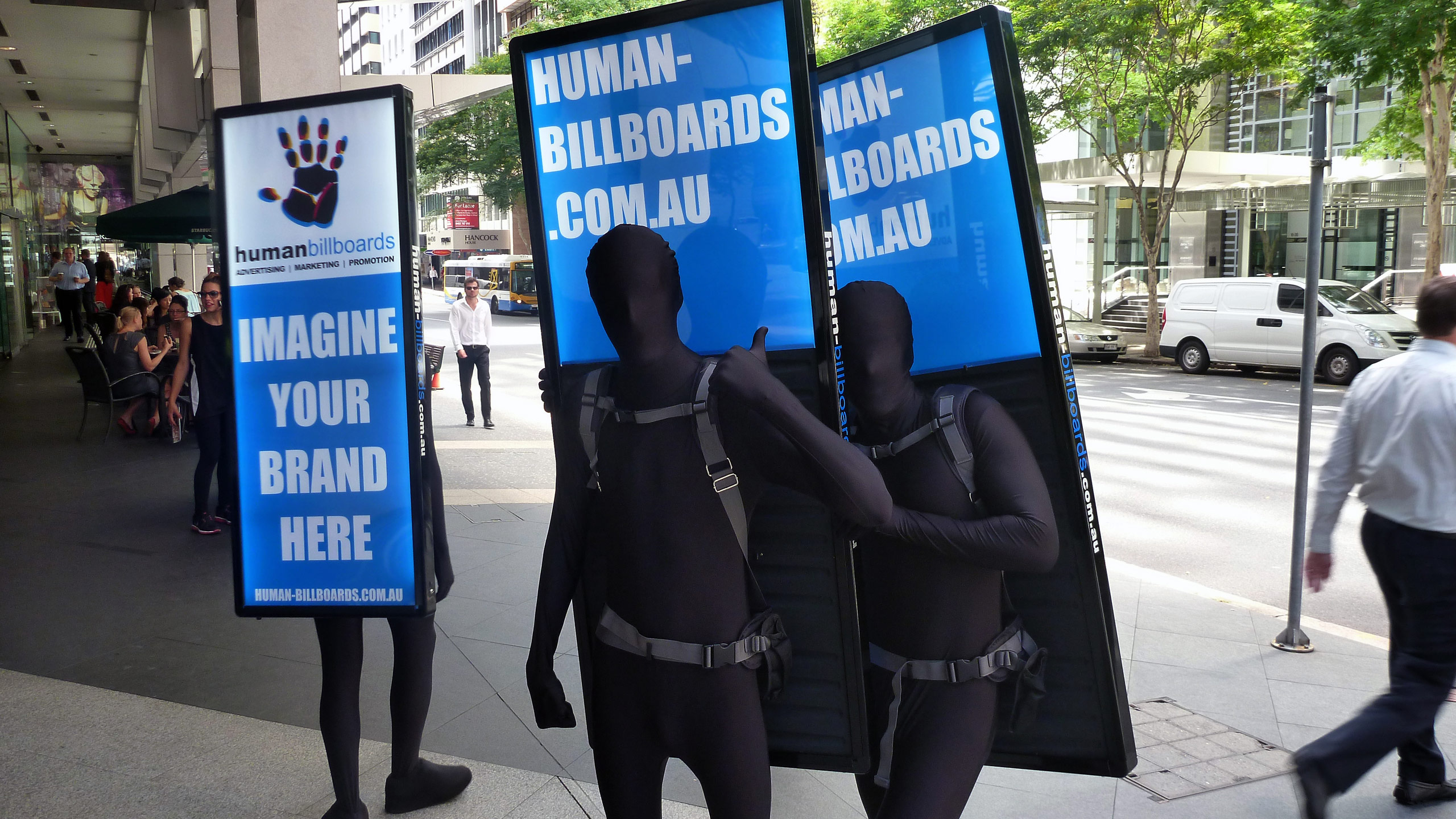 how to become a human billboard