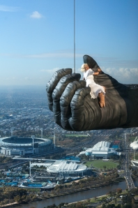 Kong at Eureka Tower Melbourne (featuring King Kong stunt person Leigh-Anne Vizer)