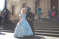 Lucy Durack (Glinda) and Jemma Rix (Elphaba)