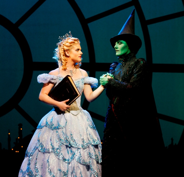 Wicked Australia - Lucy Durack (Glinda) & Jemma Rix (Elphaba) Photo Credit: Jeff Busby