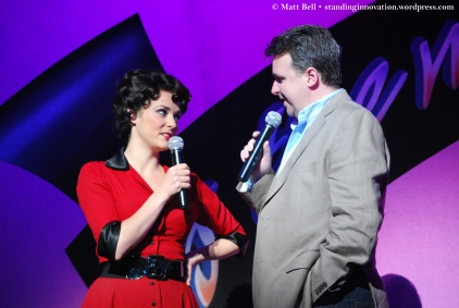 Lucy Maunder (Rizzo) and Executive Producer Craig Donnell