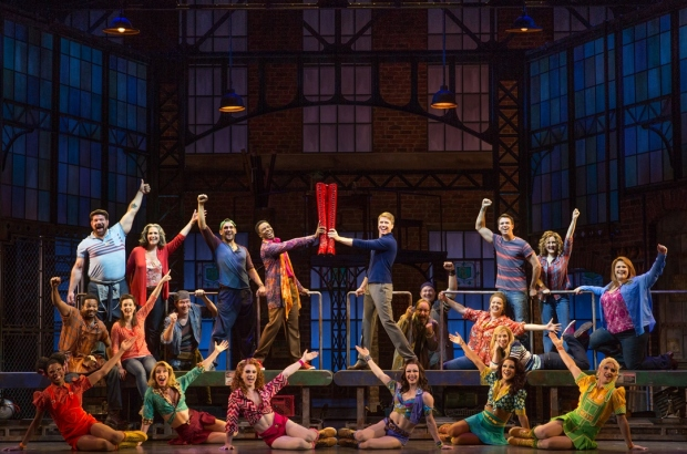 The original Broadway cast of Kinky Boots.