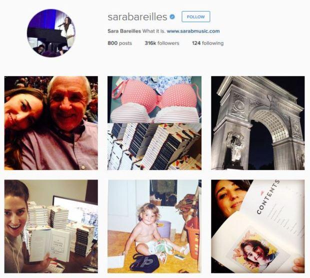 Sara Bareilles Instagram